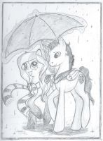 Walk in the Rain by wolfgal04