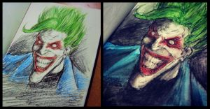Joker Arkham Asylum (Comic) Fanart by RafaConte