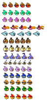 Angry Birds OCs Sprites (Update) by jared33