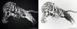 Tiger in stencil by mercy