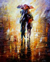 Together in the storm by Leonid Afremov by Leonidafremov