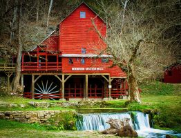 Hodgeson Mill - Ye Olde Swimming Hole by LaColombeDeDeuil