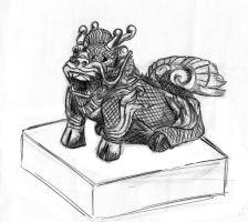 Chinese Qilin-shaped seal by Mourkhayn