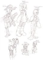 Medi.EXE Costume Sketches by SLiDER-chan