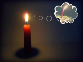Candle dreams by mePara