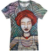Red-hat-lady-meditate shirt by santoshirts