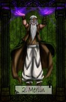 Mythology Tarot Merlin by TheBlindProphetess