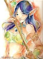Jade Watercolor by Poiizu