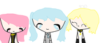 Vocaloid Miku And Rin And Luka by animeredrose