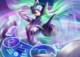 DJ Sona - Kinetic (League of Legends fanart) by MaayaInsane