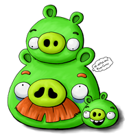 The Green Pigs Family 2 by RiverKpocc