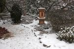 Japanese Garden in Snow by AgiVega