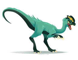 Dilophosaurus by Versiris