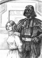 Vader and Leia by Loye