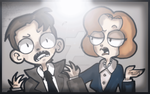 {X-Files} .:The Skeptic + the Paranoid Believer:. by MissBrillig
