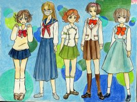 Girls School Uniforms 2 by hbanana7