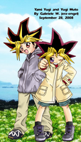 YGO: Yami Yugi and Yugi Muto by erz-engel