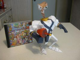 Earthworm Jim Papercraft by Lantis02