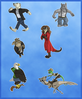 Meme Anthro Badge Parade by paracritter
