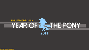 PhB Year of the Pony 2014 Wallpaper by NicDroidPH