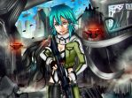Shinon sword art online 2 by VinceDeNighthawk