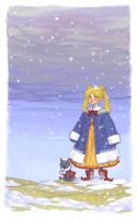 Out in the Snow by lastlabyrinth