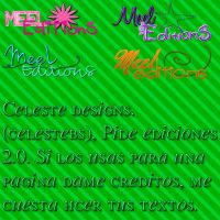 Pack 4 textos png's 'MeeLEditionS'. by celestebs