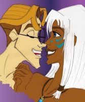 Milo-Kida : Stolen Kiss_colour by Bintavivi