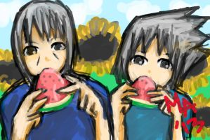 Uchiha Brotherhood of The WaterMelons~ by MasterAki