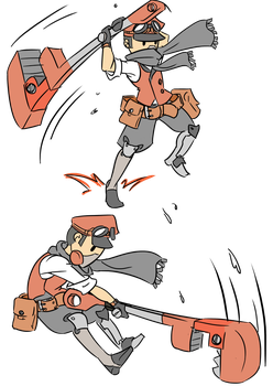 Engineer abilities --- Charge ---- by TheRaccoonRamirez