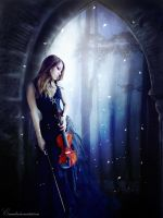 The violin girl by Eisanka