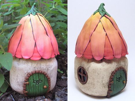 Coral Flower Fairy House by noellewis