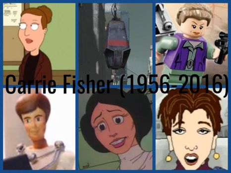 Carrie Fisher R.I.P (1956-2016) Characters by PhantomEvil