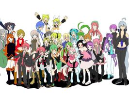 Vocaloids and UTAU Unite by quila111