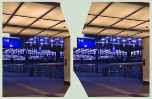 Berlin Hauptbahnhof IV ::: HDR Cross-Eye 3D by zour