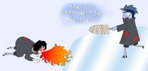 Itachi and Kisame: Snow Fun by thegeekpit