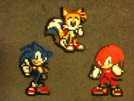 Sonic, Knuckles and Tails by nayrb00