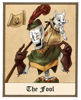 Undertale tarot - 0 - The Fool by JayJayRey