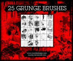 Twenty-Five Grunge PS Brushes by montia