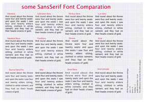 some sans serif fonts by tom45