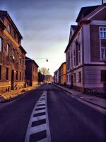 City road by FrantisekSpurny
