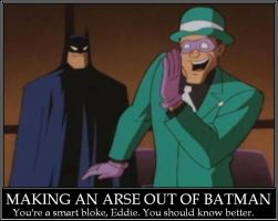 Riddler Demotivational Poster by ArachFinne