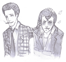 Butch and Benny by adlibber