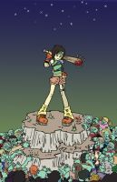Yuffie the Zombie Slayer by HoneyintheHoneycomb