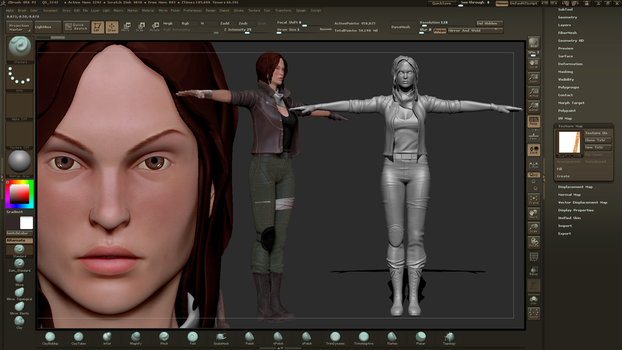 High Poly Female Character Sculpt by Jeordanis