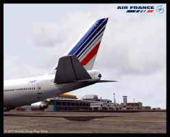 Air France B747 by Nicshooter