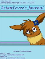 AsianEevee Journal Skin by AbyssinChaos