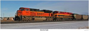 BNSF 9155 and KCS 4694 by hunter1828
