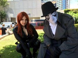 ComicCon 2015: Rorschach and Black Widow by Omnipotrent