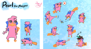 Pearl the Platypus by 13Hael